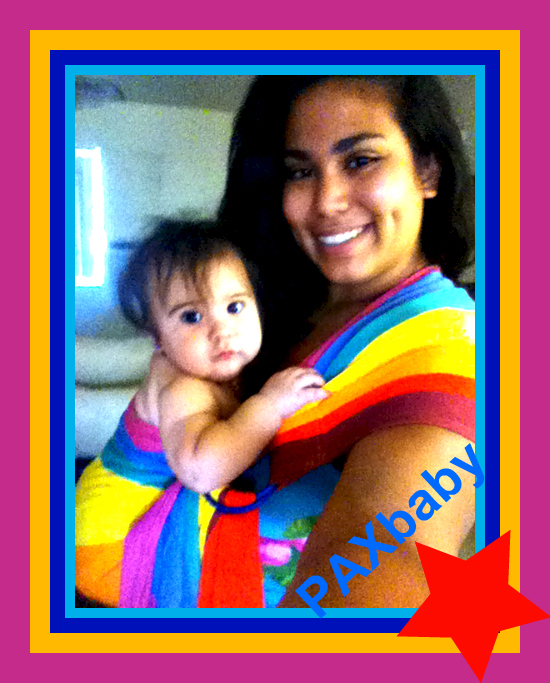 PAXbaby Rainbow Ring Sling Sleeping Baby